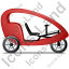 Pedicab Right Red Icon, PNG/ICO, 64x64