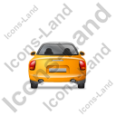 Cabriolet Back Yellow Icon, PNG/ICO, 128x128