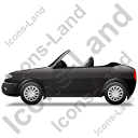 Cabriolet Left Black Icon