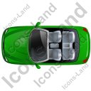 Cabriolet Top Green Icon, PNG/ICO, 128x128