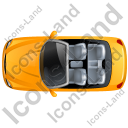 Cabriolet Top Yellow Icon, PNG/ICO, 128x128