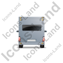 Camper Van Back Grey Icon, PNG/ICO, 128x128