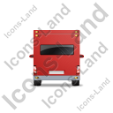 Camper Van Back Red Icon