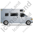 Camper Van Right Grey Icon