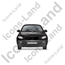 Car Front Black Icon, PNG/ICO, 128x128