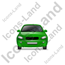 Car Front Green Icon, PNG/ICO, 128x128