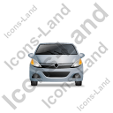 Hatchback Front Grey Icon, PNG/ICO, 128x128