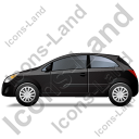 Hatchback Left Black Icon, PNG/ICO, 128x128