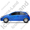 Hatchback Left Blue Icon, PNG/ICO, 128x128