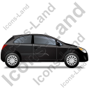 Hatchback Right Black Icon, PNG/ICO, 128x128