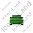 Luxury Car Back Green Icon