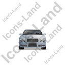Luxury Car Front Grey Icon, PNG/ICO, 128x128