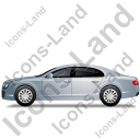 Luxury Car Left Grey Icon, PNG/ICO, 128x128