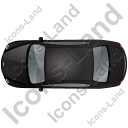 Luxury Car Top Black Icon