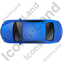 Luxury Car Top Blue Icon, PNG/ICO, 128x128
