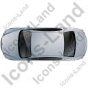 Luxury Car Top Grey Icon