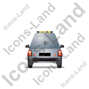 Roadside Assistance Car Back Grey Icon, PNG/ICO, 128x128