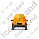 Roadside Assistance Car Back Yellow Icon, PNG/ICO, 128x128