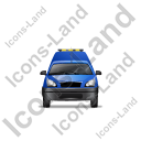 Roadside Assistance Car Front Blue Icon, PNG/ICO, 128x128