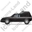 Roadside Assistance Car Left Black Icon, PNG/ICO, 128x128