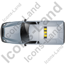Roadside Assistance Car Top Grey Icon, PNG/ICO, 128x128