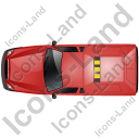 Roadside Assistance Car Top Red Icon