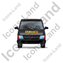 Service Van Front Black Icon