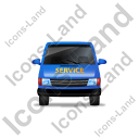 Service Van Front Blue Icon