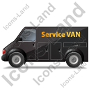 Service Van Left Black Icon