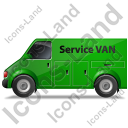 Service Van Left Green Icon, PNG/ICO, 128x128