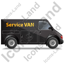 Service Van Right Black Icon, PNG/ICO, 128x128