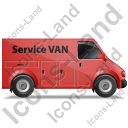 Service Van Right Red Icon, PNG/ICO, 128x128