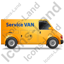 Service Van Right Yellow Icon