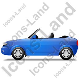 Cabriolet Left Blue Icon