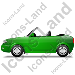 Cabriolet Left Green Icon
