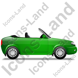 Cabriolet Right Green Icon