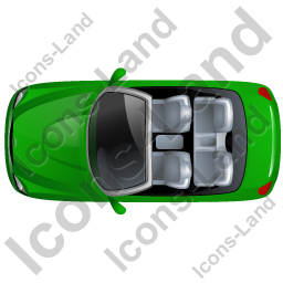 Cabriolet Top Green Icon, PNG/ICO, 256x256