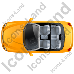 Cabriolet Top Yellow Icon, PNG/ICO, 256x256