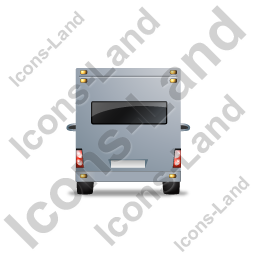 Camper Van Back Grey Icon