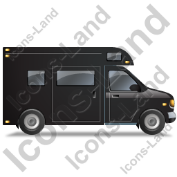 Camper Van Right Black Icon