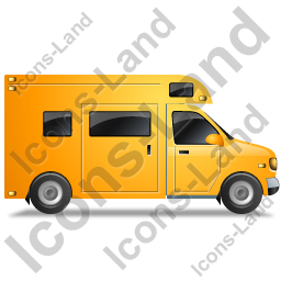 Camper Van Right Yellow Icon, PNG/ICO, 256x256