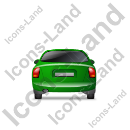 Car Back Green Icon