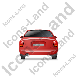 Car Back Red Icon