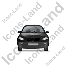 Car Front Black Icon, PNG/ICO, 256x256