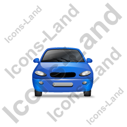 Car Front Blue Icon