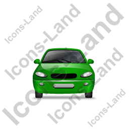 Car Front Green Icon, PNG/ICO, 256x256