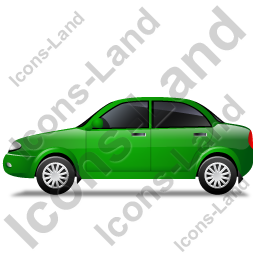 Car Left Green Icon