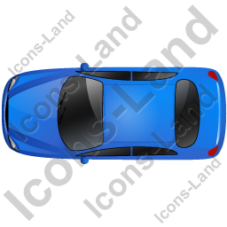 Car Top Blue Icon