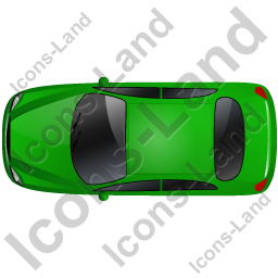 Car Top Green Icon