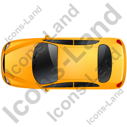 Car Top Yellow Icon